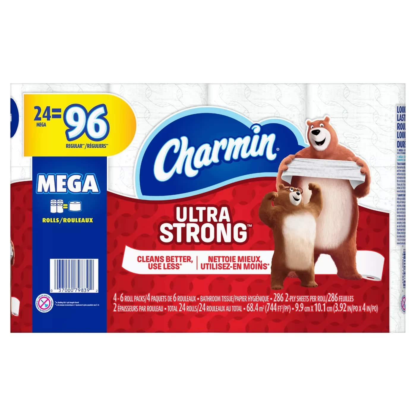 48-Ct Charmin Ultra Soft/Ultra Strong Mega Rolls Toilet Paper + $10 Target GC $40.38(2 cents/sq.ft after GC) + Free Store Pickup