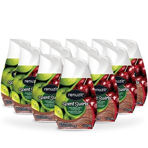 12-Count Renuzit Adjustable Air Freshener Gel (Green Apple, Cherry & Sandalwood) $6.72 (or $6 15% S&S) + Free S&H