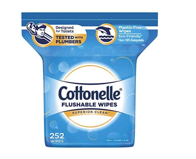 252-Ct Cottonelle FreshCare Flushable Wipes Alcohol Free $6.23 w/ S&S + FS