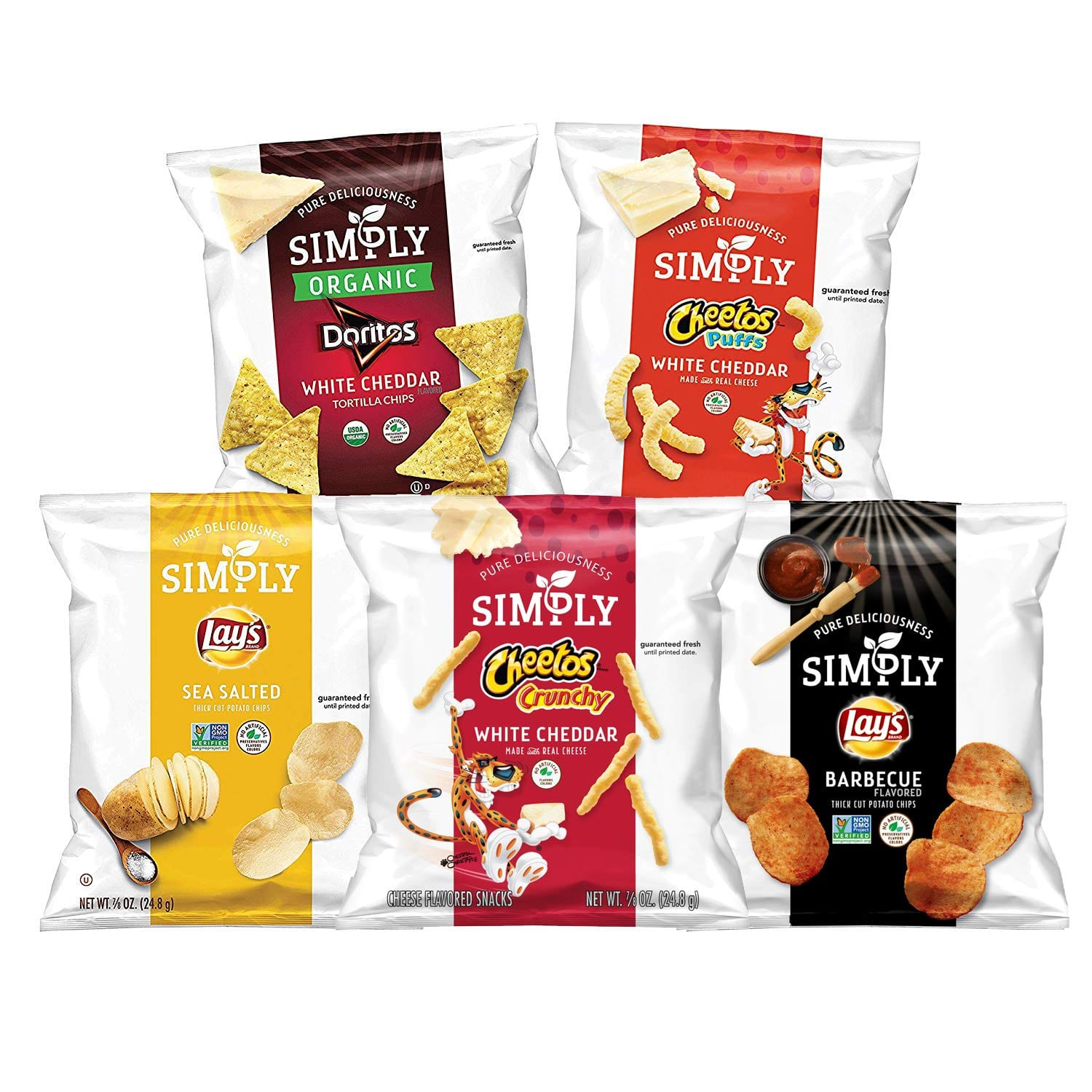 36-Count 0.875oz Simply Brand Organic Doritos Tortilla Chips, Variety Pack $9.45 w/ S&S & More + Free s/h