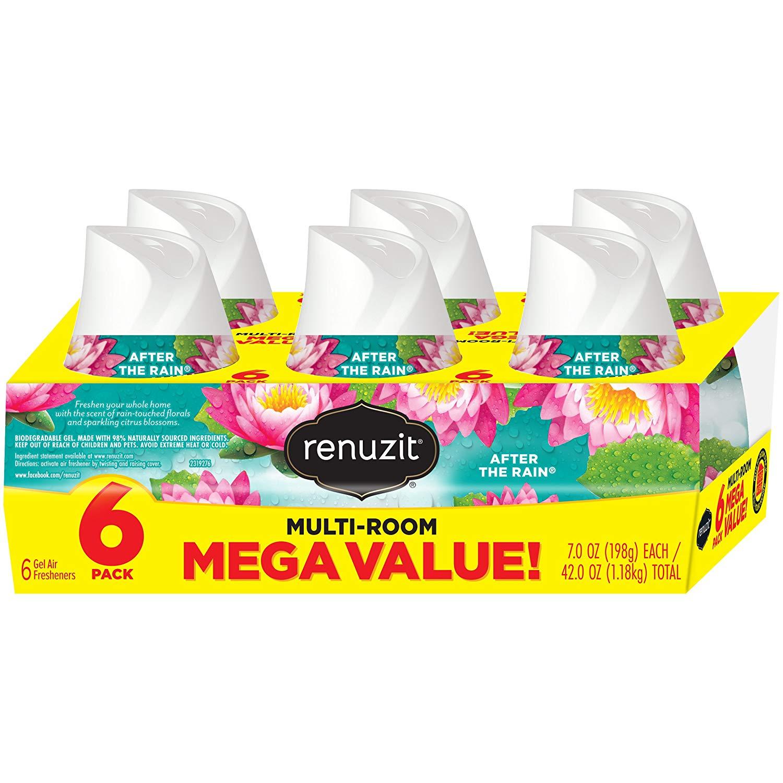 6-Ct Renuzit Adjustable Air Freshener Gel (After The Rain) $1.75 w/ S&S + Free S&H
