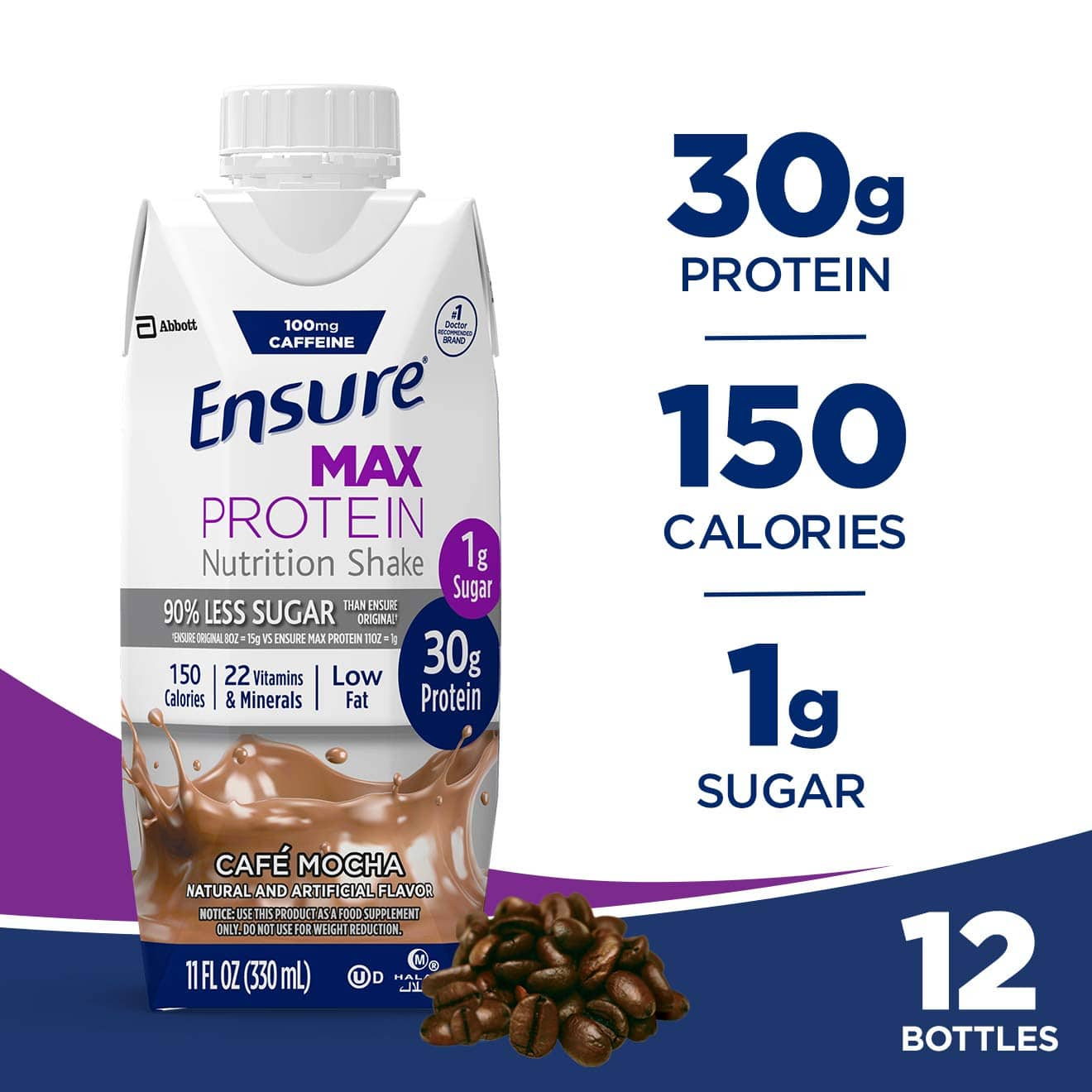 12-Count 11-Oz Ensure Max 30g Protein Nutritional Shake (Various flavors) from $10.7 w/ S&S + Free s/h