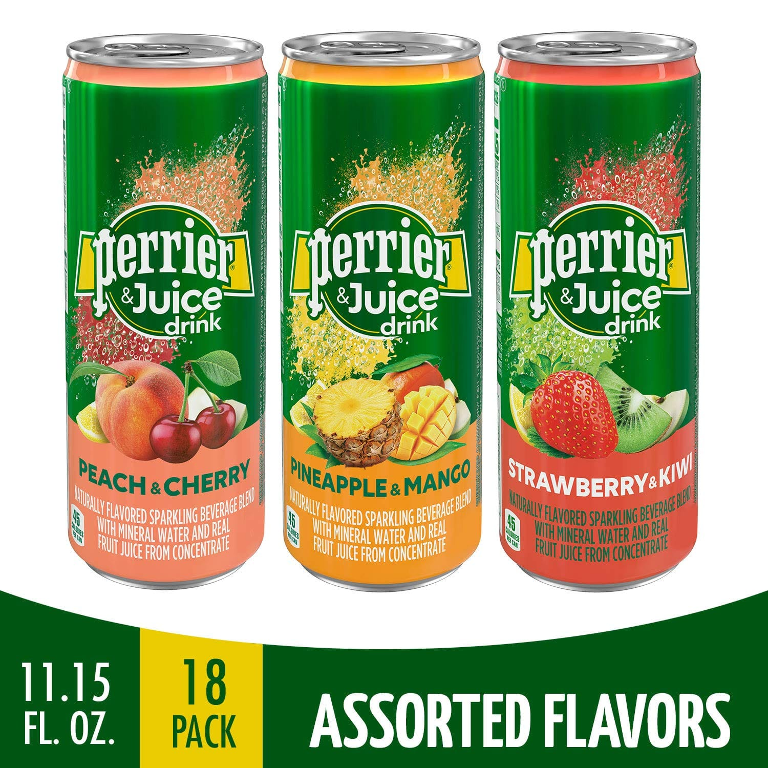 18-Pack 11.15-Oz Perrier & Juice Drink, Assorted Flavors $6.98 w/ S&S + free s/h