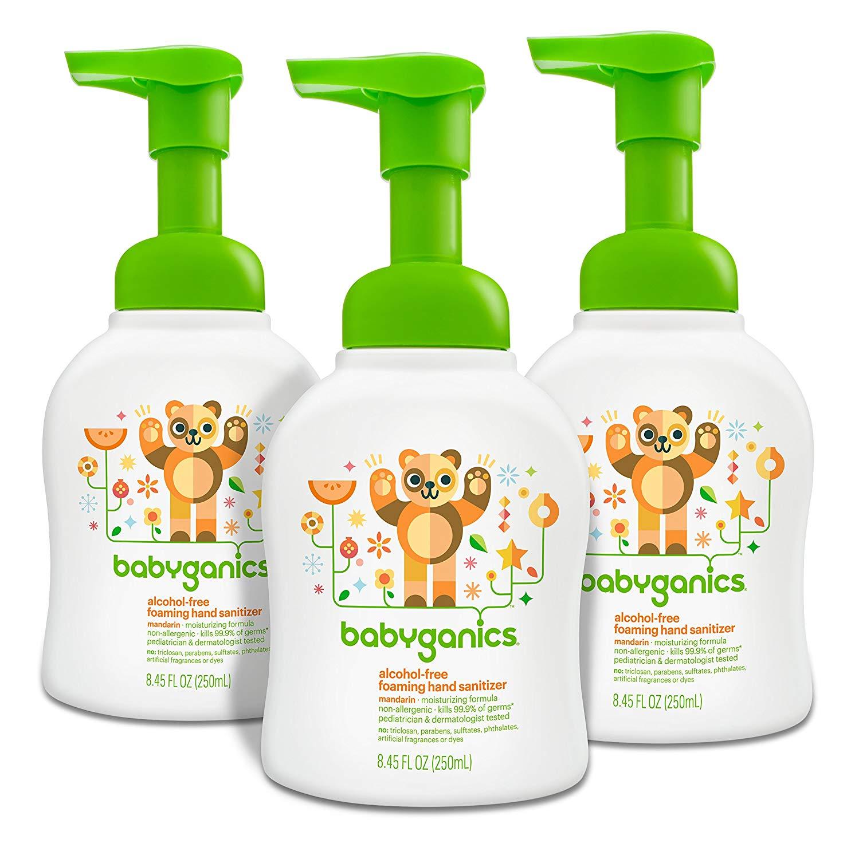 3-Pack 8.45oz. Babyganics Alcohol-Free Foaming Hand Sanitizer Pump Bottles $7.1 w/ S&S + free s/h