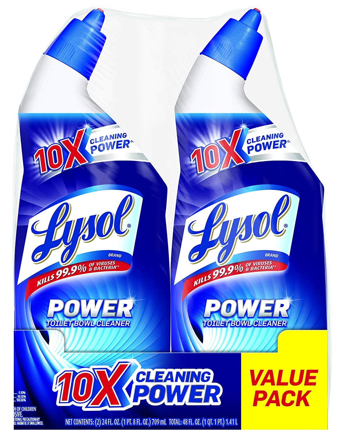 4-Pack of 24oz Lysol Power Toilet Bowl Cleaner $3.35 or less w/ S&S + free s/h