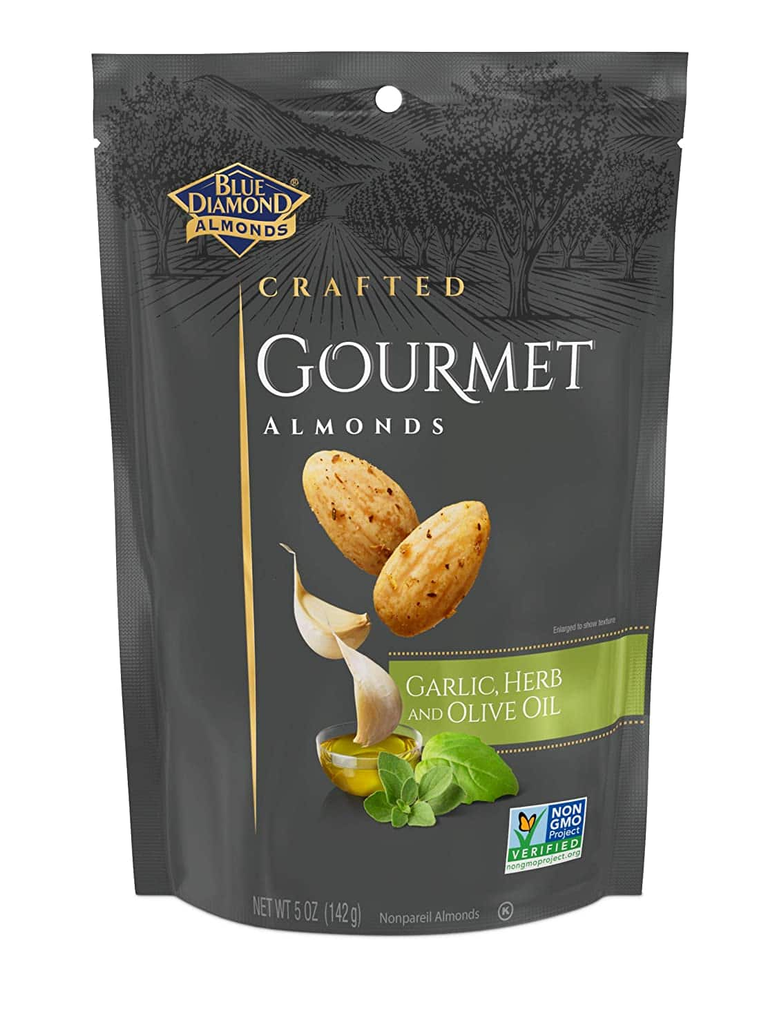 5-Oz Blue Diamond Gourmet Almonds (Garlic, Herb & Olive Oil) 2 for $4.50 & More w/ Subscribe & Save