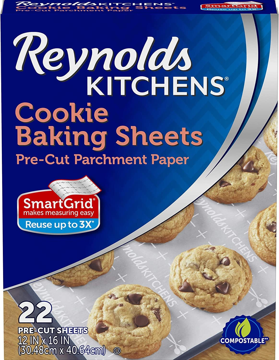 22-Ct Reynolds Kitchens Cookie Baking Sheets, Pre-Cut Parchment Paper $2.30 or less w/ S&S