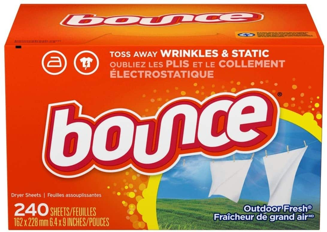 240-Ct Bounce Fabric Softener Sheets, Outdoor Fresh $5.69 or less w/ S&S