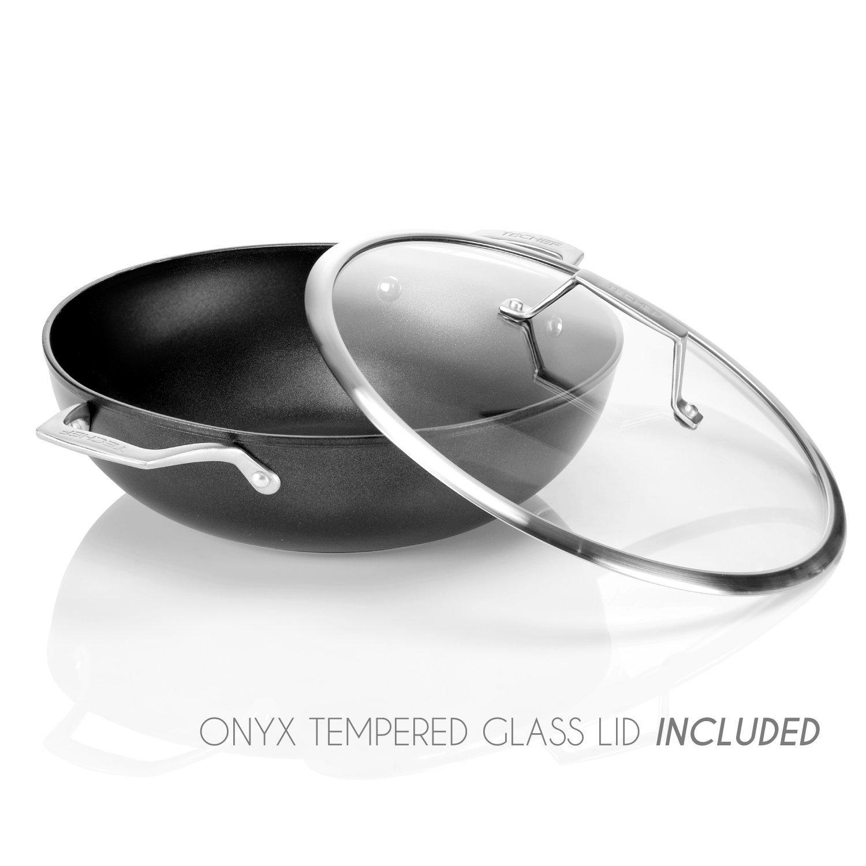 "TECHEF Onyx Collection 12"" Teflon Wok $25.99"