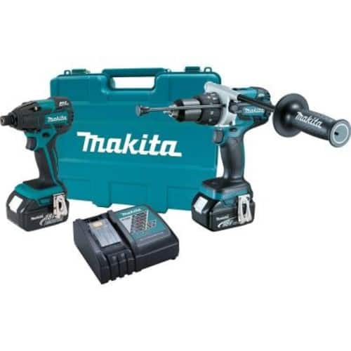 Makita XT257M Brushless Cordless Hammer Drill/Impact Driver Combo Kit (2-Piece) with (2) 4.0Ah Batteries, Case $234.81