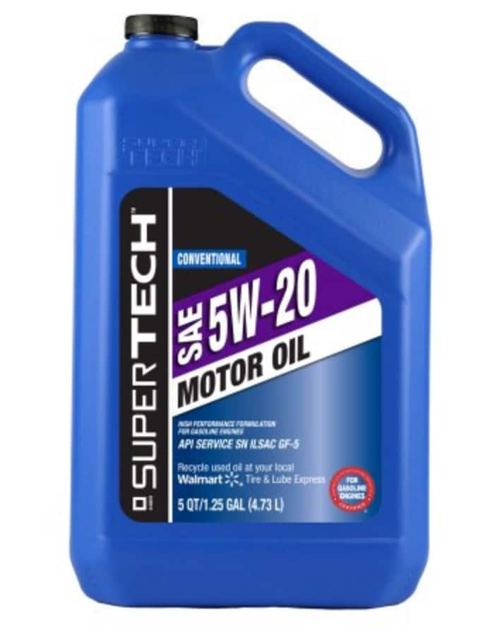 5 Quart SuperTech 5W-20 Motor Oil $9.58 + Free Store Pickup or Free 2-Day Shipping on $35+ Orders