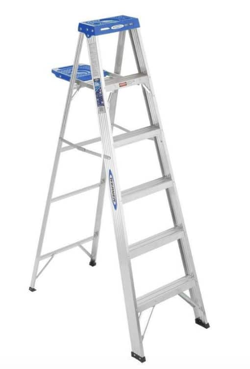 Lowe's 6' Werner Aluminum Type I Step Ladder (250lb Capacity) $40 + Free Store Pickup
