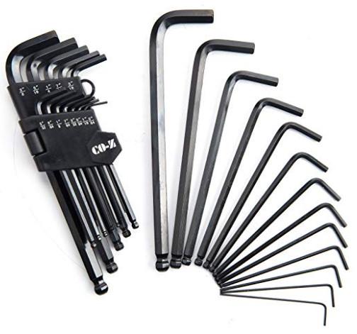 26PCS Long Metric/Inch Allen Wrench Set $9.99