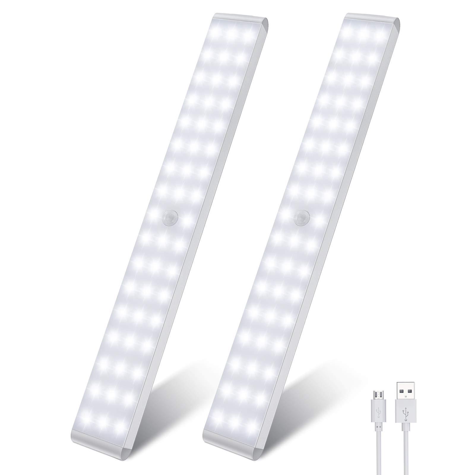 $12.99 LED Closet Light,50-LED Dimmer Rechargeable Motion Sensor Under Cabinet Lights Wireless Stick-Anywhere Night Light Bar W/1500mAh Battery (2 Packs) At Amazon. Free Ship.