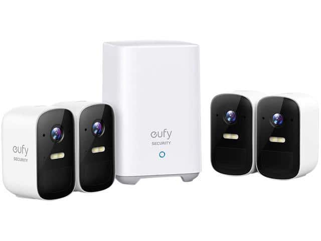 At Newegg eufy Security, eufyCam 2C 4-Cam Kit, Wireless Home Security System with 180-Day Battery Life $299.99