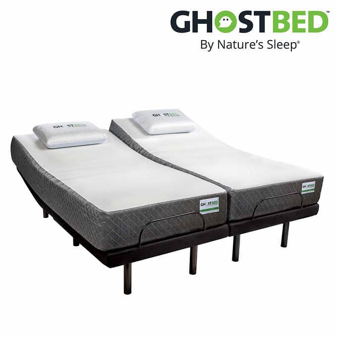 """Ghostbed 11"""" Split King Memory Foam Mattress with Adjustable Base $1599  +Free Shipping"""