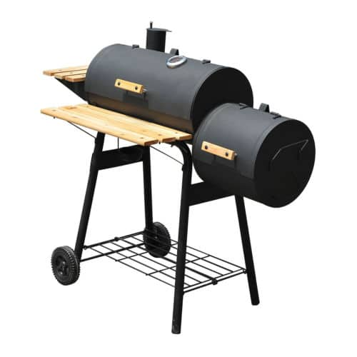 Backyard BBQ Grill Charcoal Barbecue Cooker Offset Smoker Combo With Wheels $79.99 + Free Shipping