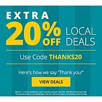 Groupon Deal: groupon 20% off local deals for current members 30% off for returning YMMV