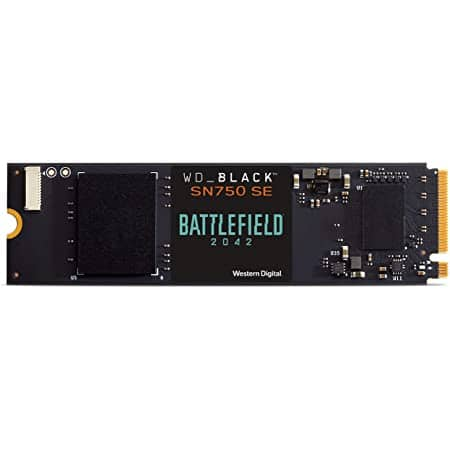 WD_Black 500GB SN750 SE NVMe Battlefield 2042 up to 3,600 MB/s $89.99 at Amazon