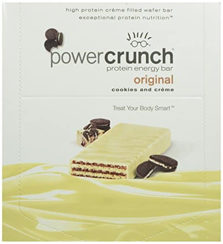 Power Crunch High Protein Energy Snack, Cookies & Creme, 1.4-Ounce Bars (Pack of 12) $13.51 as low as $11.48 shipped with S&S - lowest ever