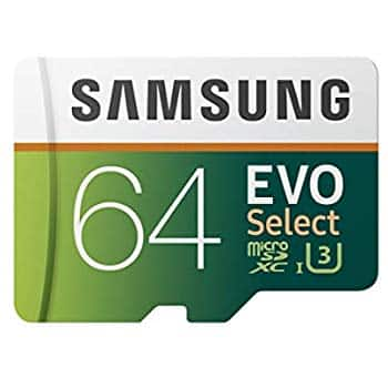 64GB Samsung EVO Select U3 MicroSD Memory Card with Adapter $11.99 (32GB $7.99, 128 $19.99, 256GB $39.99) + FS w/ Prime or FSSS