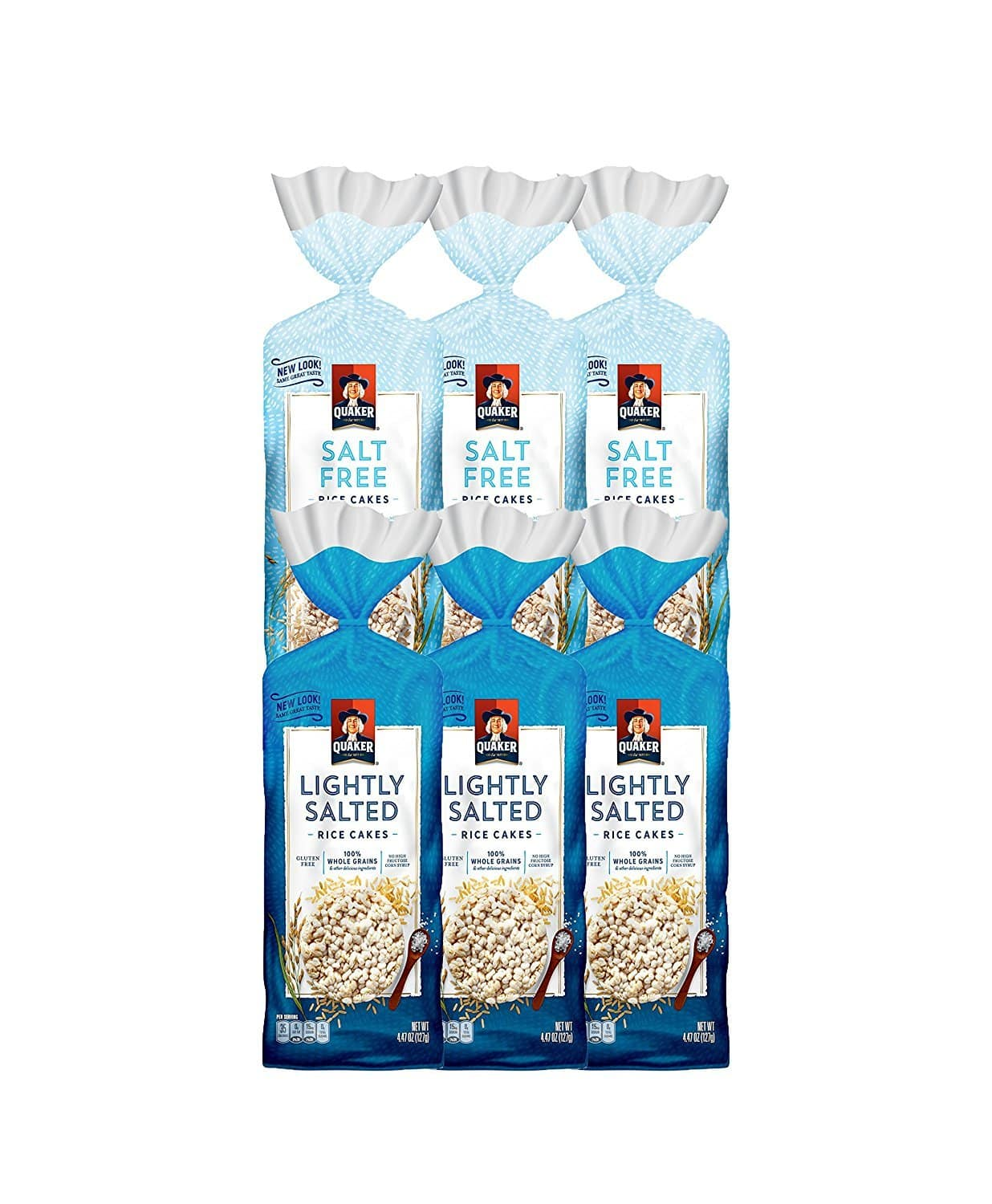 Quaker Large Rice Cakes, Gluten Free, 3 Flavor Variety Pack, 6 Count as low as $8.28 w/ S&S