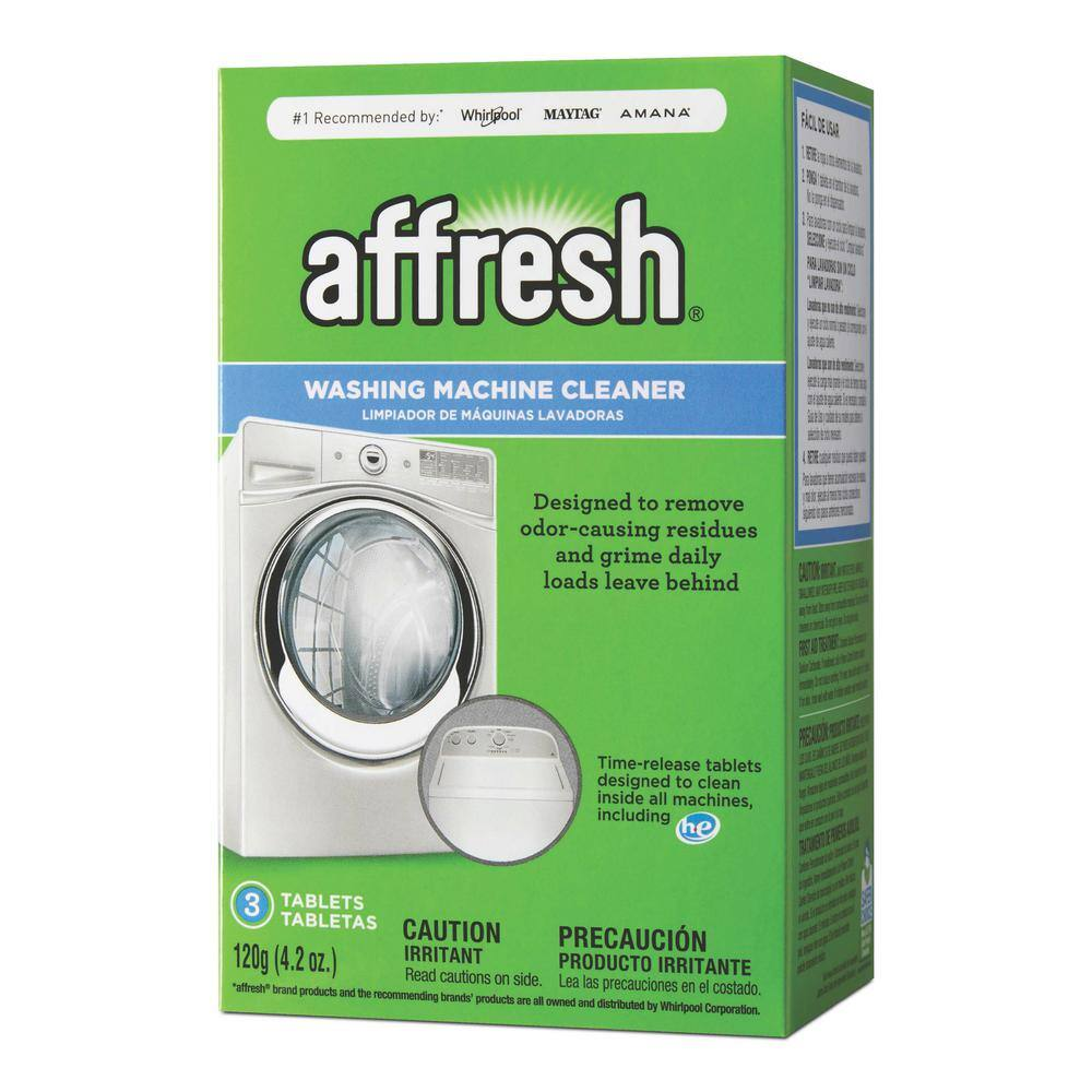 Affresh 3-count washing machine cleaner $3.25 at Home Depot