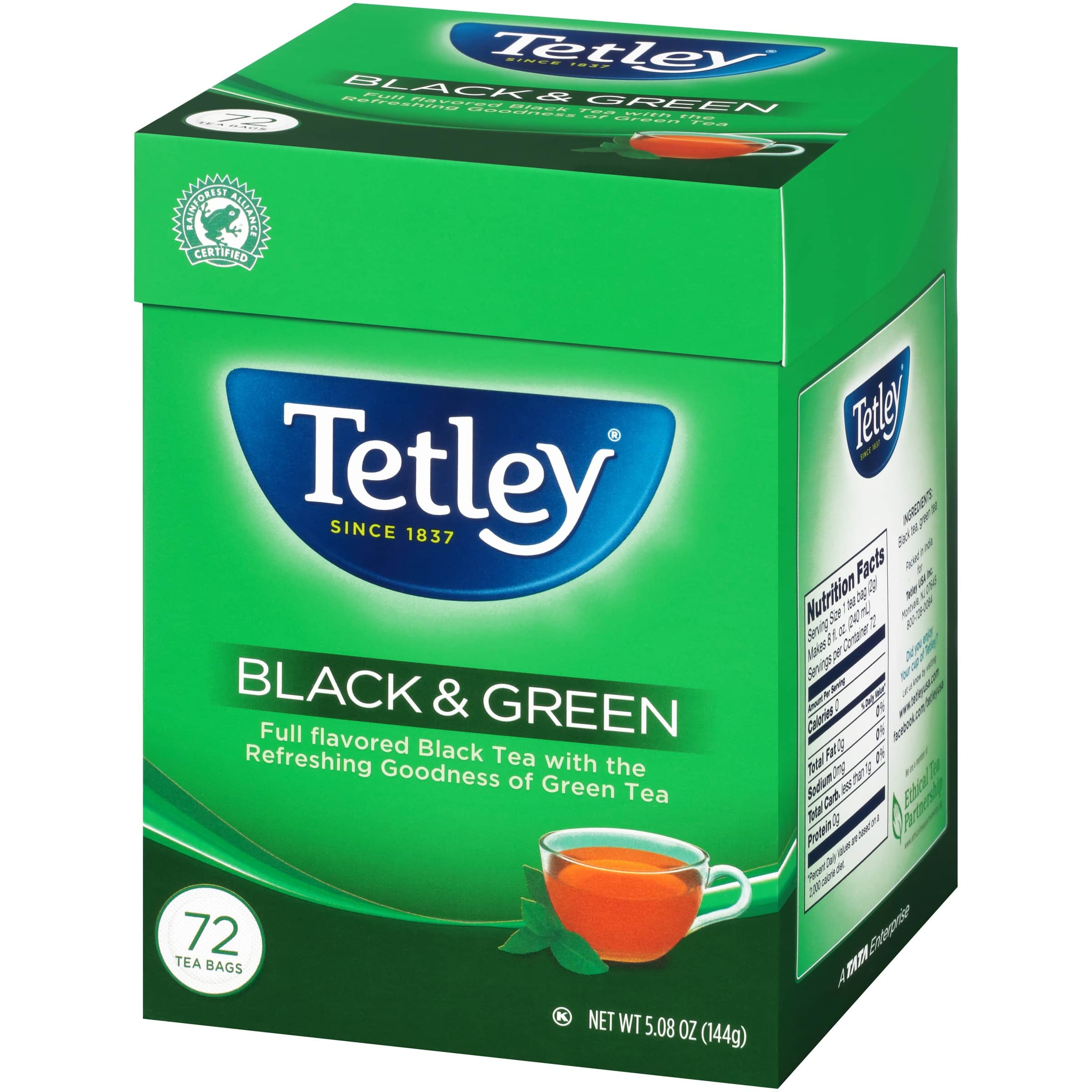Back Again: Tetley Tea Bags, Black and Green, 72 Count as low as $2.53 + Free Shipping with S&S