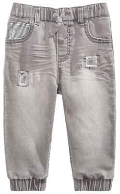 Baby Boys Cotton Patched Jeans $10.4