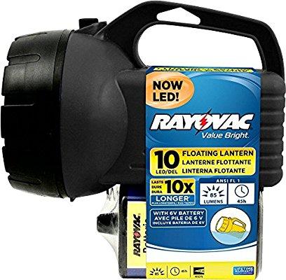 Rayovac 10-LED 6V Floating Lantern w/ Battery $5