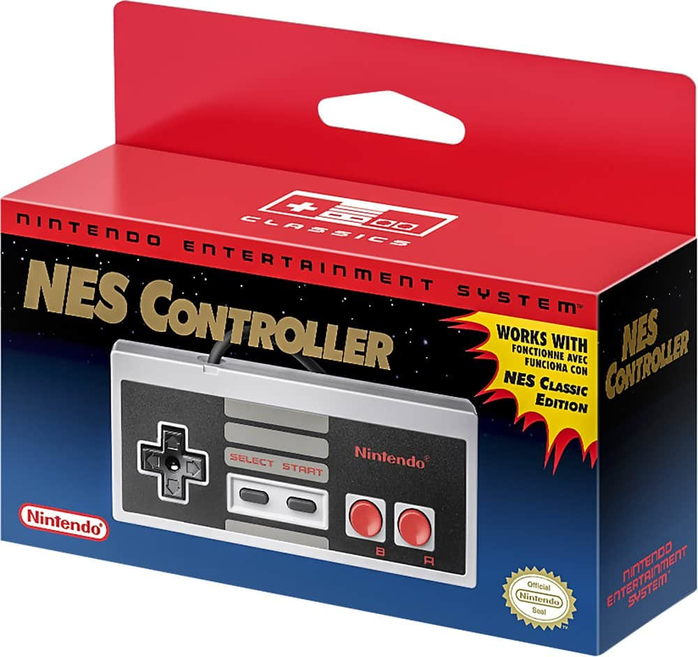Nintendo - NES Controller for Entertainment System: NES Classic Edition $9.99 at Best Buy