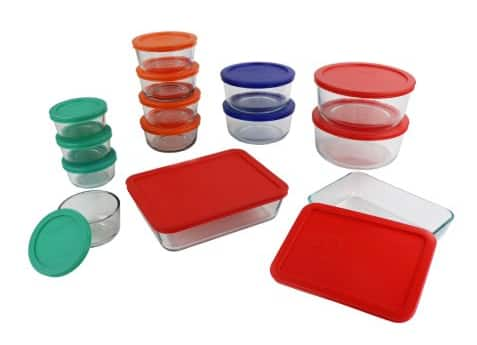 $19.00 Pyrex 28-Pc Simply Store® Set, Food Storage, Bakeware, Red, Green, Orange, Blue @ Walmart