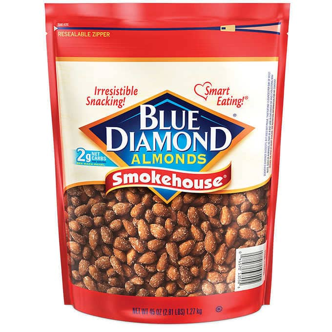Costco Members: Blue Diamond Almonds Smokehouse 45oz $8.27