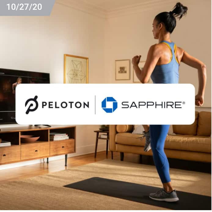 Peloton $60 / $120 Credit with Chase Sapphire