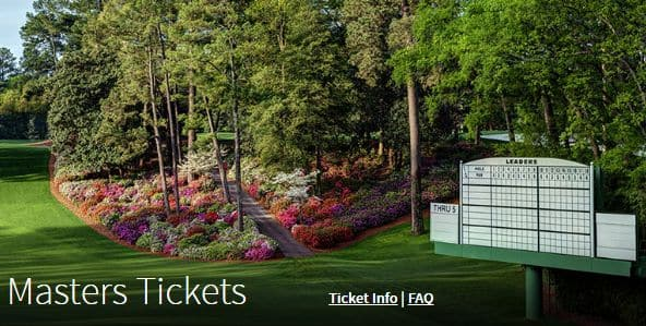 2017 Masters Tickets Lottery Now Open