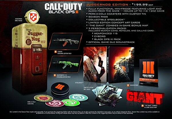Call of Duty: Black Ops III Juggernog Edition PS4 and XB1 for $160 using GC Unlocked Best Buy