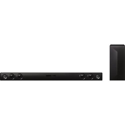 LG - 2.1-Channel Soundbar System with Wireless Subwoofer and Digital Amplifier - Black
