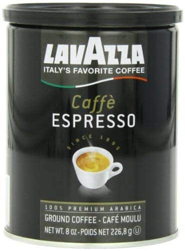 Lavazza Caffe Espresso Ground Coffee Blend, Medium Roast, 8-Ounce Cans (Pack of 4) $22.81