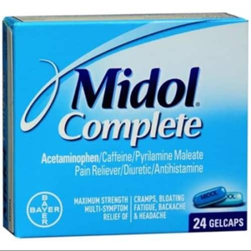 Midol Menstrual Complete Gelcaps 24 ea (Pack of 2) $4.74@Amazon