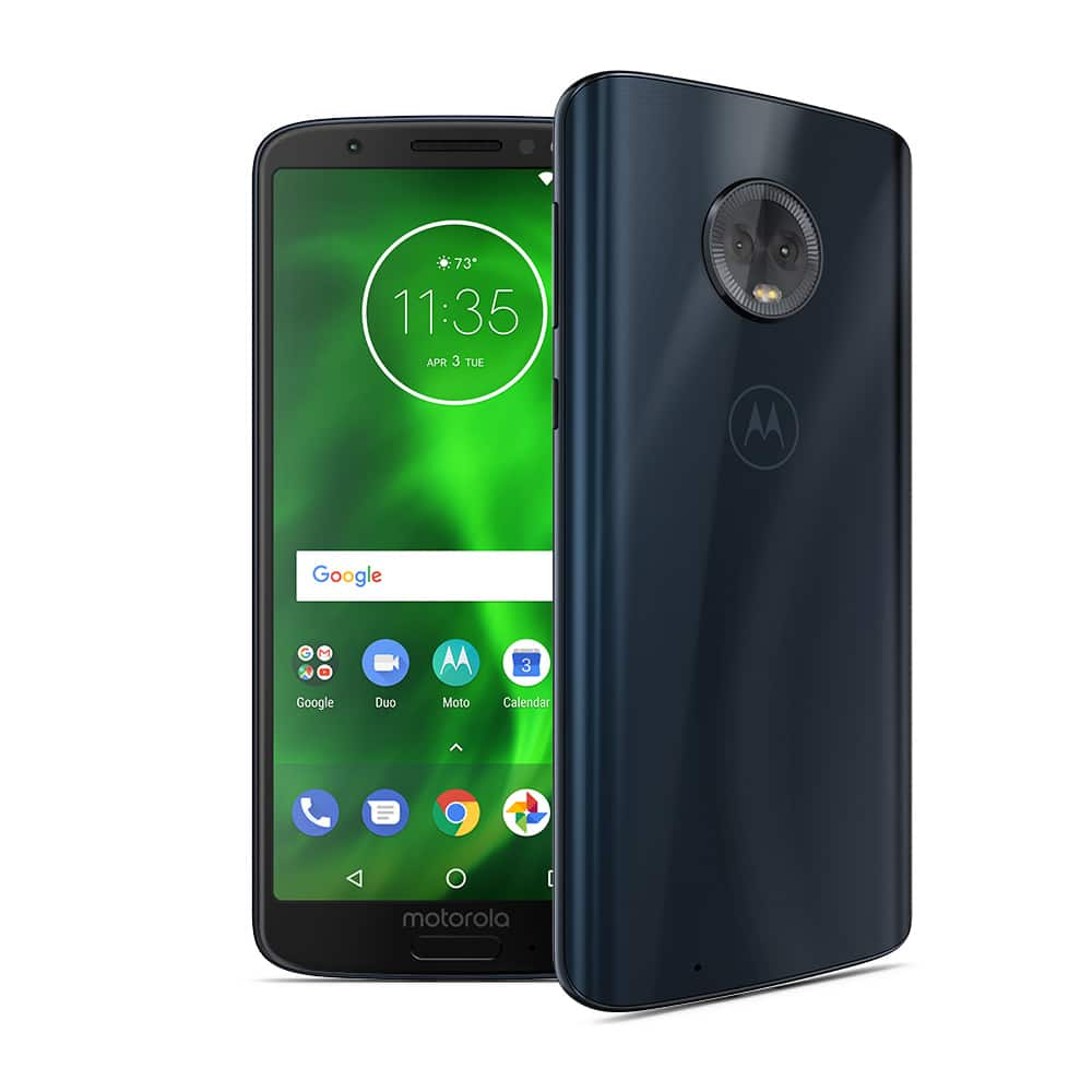 Free Unlocked Moto G6 Deep Indigo color with full-price purchase of select smartphones at Motorola.com