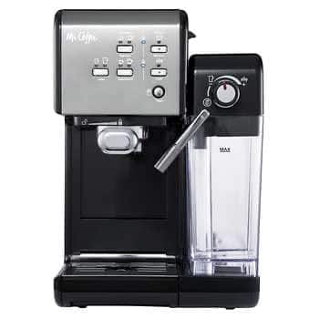 Mr. Coffee One-Touch CoffeeHouse Espresso and Cappuccino Machine, Dark Stainless - $129.99