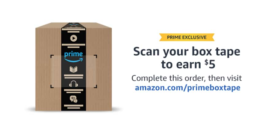 a6407f95eb03e Amazon Prime: Scan your box tape and earn $5 YMMV - Slickdeals.net