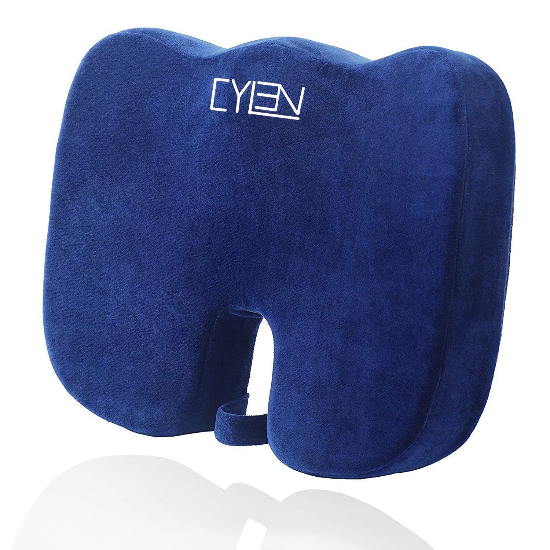 Memory Foam Bamboo Charcoal Infused Ventilated Orthopedic Seat Cushion $13.75