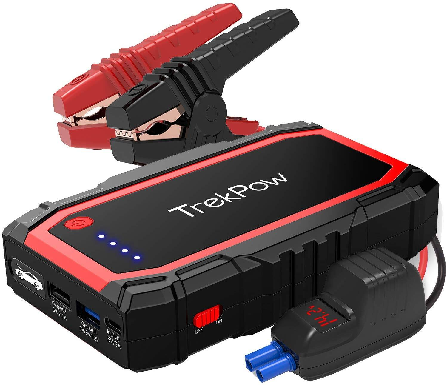 Portable Car Jump Starter with USB Quick Charge 3.0 $36.58