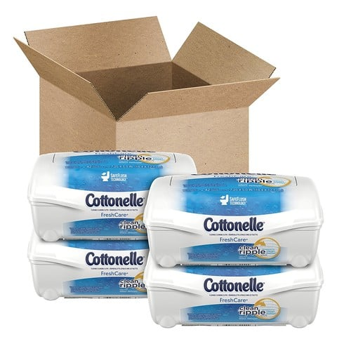 Cottonelle Fresh Care Flushable Cleansing Cloths Refillable Tub ,42 Count (Pack of 4) $6.22@Amazon