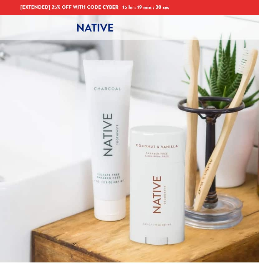 Native Deodorant 25% OFF