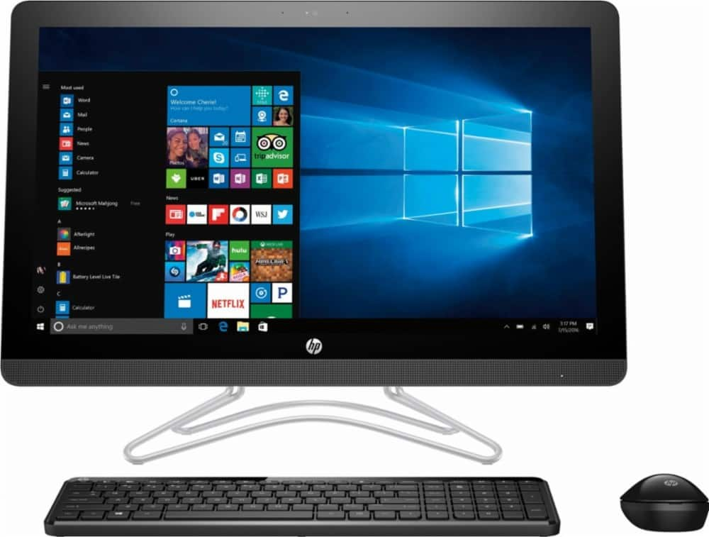 """HP - 23.8"""" Touch-Screen All-In-One - Intel Core i3 - 8GB Memory - 1TB HDD - $499 Bestbuy"""
