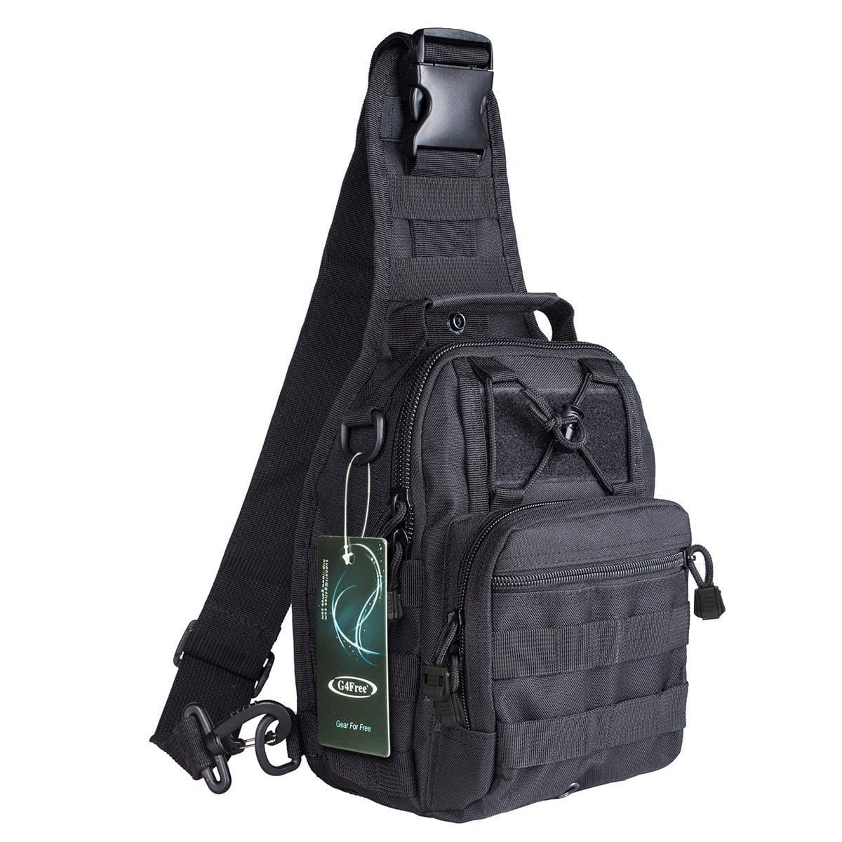 G4Free Outdoor Tactical Backpack Military Sport Pack Chest Shoulder Sling for Camping, Hiking, Trekking from $12.99
