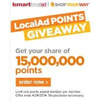 Kmart Deal: Sears & Kmart LocalAd Shop Your Way Rewards points Giveaway for 4/22 to 4/24