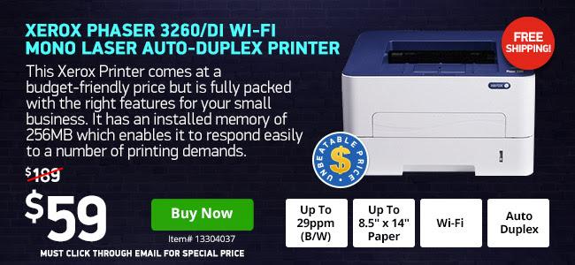 Xerox Wireless Laser Printer $59